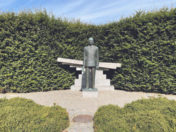 Danish King Frederik 9th Statue