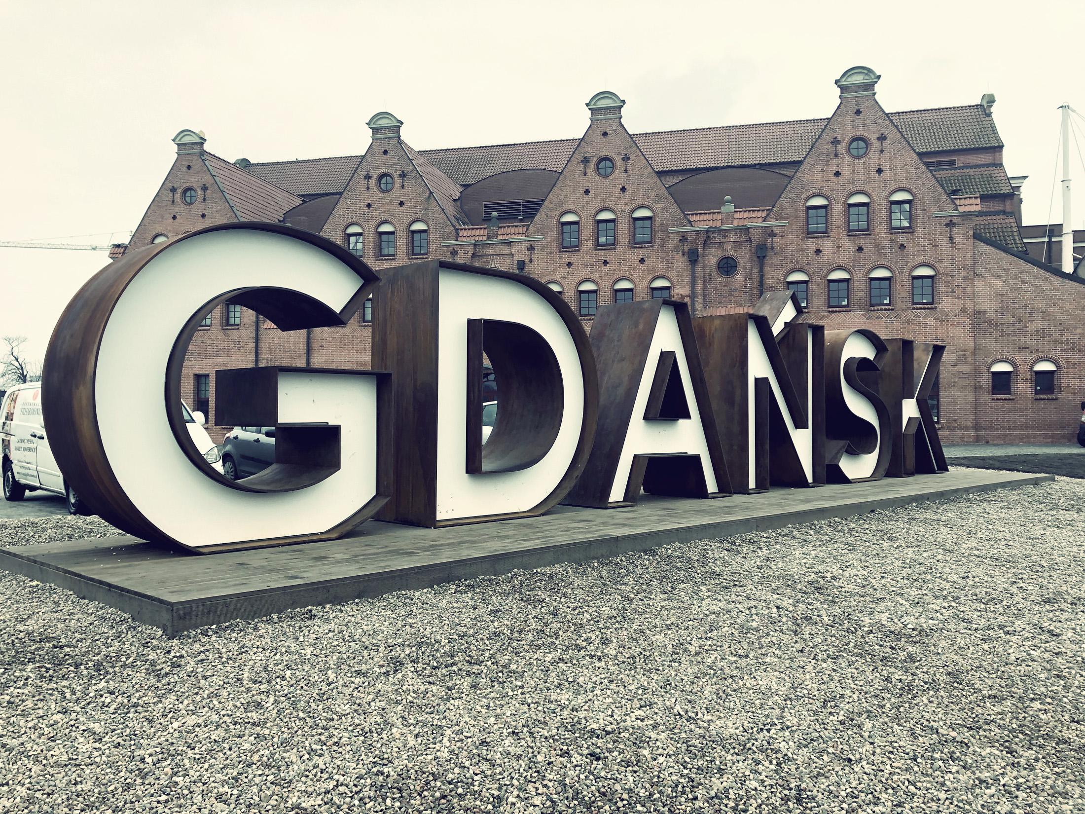 Napis Gdańsk