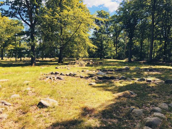 Prästgårdsparken med Karl XI:s stenar