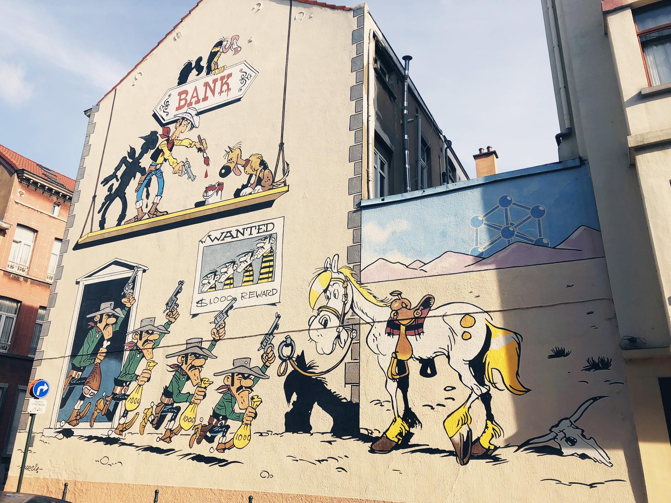 Väggmålningar i Bryssel